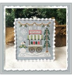 Snow Village - Peppermint Parlor - Country Cottage Needlework