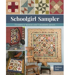 """Schoolgirl Sampler - 72 Simple 4"""" Blocks and 7 Charming Quilts"""