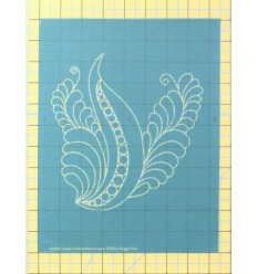 Full Line Stencil Quilting Feather Triangles